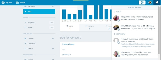 Stats from early yesterday.  One page view and three likes.  That doesn't add up!
